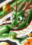 2016 4_fingers algren-hayabusa dragon dragon_ball dragon_ball_(object) eastern_dragon feral hi_res holding_object male orb red_eyes scalie sharp_teeth shenron solo teeth whiskers