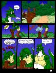 2003 anthro blue_eyes claws clothing comic dnapalmhead dragon english_text green_scales growth male onomatopoeia redsaber scales scalie solo sound_effects surprise teeth text traditional_media_(artwork)Rating: SafeScore: -1User: heDate: June 25, 2018