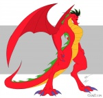american_dragon:_jake_long anthro claws disney dragon eastern_dragon fangs gunzcon hi_res jake_long looking_at_viewer male membranous_wings muscular red_body scalie solo standing western_dragon wingsRating: SafeScore: 20User: NekoJin24Date: August 27, 2009