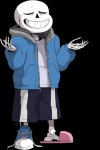2016 alpha_channel animated_skeleton bone clothed clothing english_text eyes_closed footwear fully_clothed hoodie humanoid male not_furry sans_(undertale) shirt shoes shorts signature simple_background skeleion skeleton slippers smile solo sweater text transparent_background undead undertale video_games