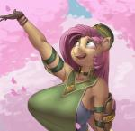 anthro big_breasts blue_eyes breasts equine eyebrows eyelashes female fluttershy_(mlp) friendship_is_magic hair hat huge_breasts kevinsano long_hair mammal my_little_pony pegasus pink_hair smile solo teeth tongue wingsRating: SafeScore: 28User: RobinebraDate: March 31, 2017