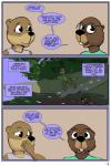 anthro beaver comic cub dialogue duo english_text female hi_res lisa_(study_partners) mammal mustelid otter rodent sarah_(study_partners) study_partners text thunderouserections young