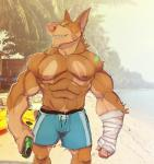 abs anthro biceps big_muscles canine clothed clothing cuson doberman dog fur male mammal muscular muscular_male nipples pecs solo toplessRating: SafeScore: 2User: Rysaerio-MisoeryDate: April 23, 2017