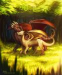 ambiguous_gender dragon duo eyes_closed feral forest grass horn lukiri membranous_wings smile standing tree wingsRating: SafeScore: 1User: MillcoreDate: March 25, 2017