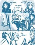 2015 angry basitin cape clothing comic cup digitigrade dragon female group horn human hybrid keith_keiser landen_(twokinds) male mammal melee_weapon monochrome outside sarah_(twokinds) scalie sealeen_(twokinds) simple_background sketch sword tom_fischbach twokinds weapon webcomic white_background