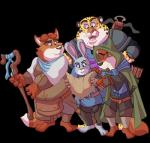 alandcapon anthro armor arrow belt benjamin_clawhauser bow_(weapon) canine cheetah cloak clothing crossbow digital_media_(artwork) disney dungeons_&_dragons duo feline female fox fur gideon_grey hi_res holding_object holding_weapon judy_hopps lagomorph larp male mammal map medieval melee_weapon nick_wilde pink_nose rabbit ranged_weapon staff sword toony weapon zootopiaRating: SafeScore: 0User: slyroonDate: June 22, 2017