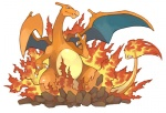 ambiguous_gender charizard dragon feral fire flaming_tail membranous_wings nintendo orange_skin pokémon scalie simple_background solo unknown_artist video_games white_background wingsRating: SafeScore: 2User: Rockman2kDate: November 12, 2009