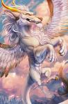 canine dragon fangs feathered_wings feathers feral flying fur furry_dragon horn hybrid long_whiskers mammal sharp_teeth sky spread_wings teeth whiluna white_eyes white_fur wingsRating: SafeScore: 3User: SnowWolfDate: December 11, 2017