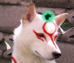 amaterasu canine capcom deity duo edit female feral fur issun low_res mammal poncle shopped solo_focus unknown_artist video_games white_fur wolf Ōkami