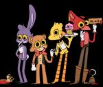 2017 animatronic anthro avian beak bear bird bonnie_(fnaf) breasts canine chica_(fnaf) chicken clothed clothing cupcake cupcake_(fnaf) digital_media_(artwork) drawbanban feathered_wings feathers female five_nights_at_freddy's food fox foxy_(fnaf) freddy_(fnaf) fur group lagomorph looking_at_viewer machine male mammal nude open_mouth rabbit robot simple_background smile standing tongue toony video_games wingsRating: SafeScore: -1User: furrycoreDate: January 19, 2018