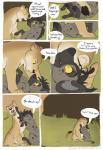 brown_fur comic feline female feral fur hyena laphund lion male mammal orange_fur spots spotted_fur tan_fur textRating: SafeScore: 9User: Nicklo6649Date: April 30, 2018