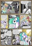 2016 anon blue_hair clothed clothing comic crying cutie_mark dialogue earth_pony english_text equine fan_character feathered_wings feathers female feral fluttershy_(mlp) friendship_is_magic frown fur green_eyes hair hi_res horn horse human hybrid inside limestone_pie_(mlp) mammal mascara_maroon maud_pie_(mlp) monochrome multicolored_hair my_little_pony panties pegasus pencils_(artist) pink_fur pinkie_pie_(mlp) pony princess_celestia_(mlp) purple_eyes purple_fur purple_hair red_eyes satyr smile tears text twilight_sparkle_(mlp) underwear winged_unicorn wings