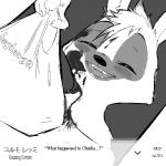 aardwolf anneke_(weaver) anthro bag black_and_white blood disney eyes_closed fan_character female fur hyena mammal monochrome open_mouth open_smile pack_street replytoanons smile solo teeth text zootopiaRating: SafeScore: 0User: CorniscopicDate: March 23, 2017