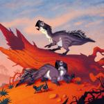 2016 4_fingers 4_toes all_fours ambiguous_gender baby beak biped black_beak black_body black_claws black_feathers ceratopsian claws cloud cub dinosaur eye_markings family feathered_dinosaur feathers feral grass grey_beak grey_body grey_stripes group hi_res johan_egerkrans looking_away lying markings multicolored_feathers no_sclera on_front open_beak open_mouth orange_eyes parent psittacosaurus scalie sky spikes striped_body stripes toe_claws toes tree tree_stump two_tone_body two_tone_feathers white_body white_feathers white_markings youngRating: SafeScore: 9User: DiceLovesBeingBlownDate: November 15, 2017