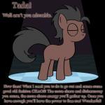 animated bitterplaguerat earth_pony equine horse loki_(bitterplaguerat) mammal my_little_pony pony solo text yellow_eyesRating: SafeScore: -4User: Aryanne_HooflerDate: April 24, 2017