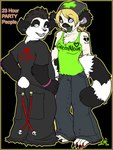 anthro bear chest_tuft clothed clothing dox duo female fur heterochromia juggalo lemur male mammal panda pants primate shirt tank_top tuft zeriara zeriara_(character)Rating: SafeScore: 0User: The Dog In Your GuitarDate: May 12, 2007