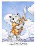 ambiguous_gender anthro black_eyes card clothing cloud english_text mammal marsupial melee_weapon minor_arcana page_of_swords_(tarot) solo sword tarot_card text ursula_vernon weapon wombatRating: SafeScore: 3User: ClawstripeDate: March 31, 2017