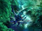 4_toes blue_scales claws day detailed_background dragon feral horn membranous_wings outside scales selianth smile solo spread_wings toes wingsRating: SafeScore: 5User: MillcoreDate: March 31, 2017
