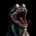 black_background black_eyes carltheshivan cookie_monster creepy crossover derp_eyes drooling humor male marvel monster nightmare_fuel not_furry open_mouth red_skin saliva sesame_street sharp_teeth simple_background solo symbiote teeth tongue tongue_out vein venom_(spider-man) what_has_science_done where_is_your_god_now