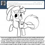 bitterplaguerat black_and_white dialogue english_text equine fan_character hat horn horse loki_(bitterplaguerat) mammal monochrome my_little_pony pony solo text unicornRating: SafeScore: 1User: Aryanne_HooflerDate: August 22, 2017