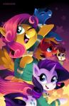 2014 big_macintosh_(mlp) blue_eyes bow_tie clothing cutie_mark earth_pony equine feathered_wings feathers female feral fluttershy_(mlp) freckles friendship_is_magic green_eyes group hair hi_res horn horse karzahnii male mammal my_little_pony pegasus pink_hair pony purple_hair rarity_(mlp) star the_ponytones unicorn wings yellow_feathersRating: SafeScore: 7User: 2DUKDate: July 18, 2014