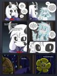 anthro asriel_dreemurr boss_monster caprine clothed clothing comic dialogue duo english_text flower fur gerson ghost goat hair hi_res human jewelry mammal necklace plant reptile scalie scarf speech_bubble spirit taggen96_(artist) text turtle undertale video_games