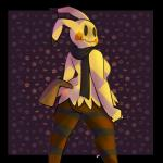 abigail_(potoobrigham) anthro autumn butt clothing costume female halloween holidays leggings legwear looking_back mimikyu nintendo pattern patterned_background pokémon potoobrigham rear_view scarf video_gamesRating: SafeScore: 1User: PotooBrighamDate: September 24, 2017