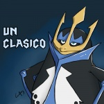 avian biped digital_media_(artwork) dreamworks empoleon front_view gradient_background half-length_portrait humor madagascar male meme nintendo nude parody pokémon portrait reaction_image semi-anthro simple_background skipper smug solo spanish_text standing text the_penguins_of_madagascar translated video_games what wolfen-c_(artist)