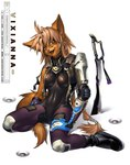 anthro armor bodystocking canine female fox j_axer kneeling mammal melee_weapon off_duty rubber solo sword vixianna warrior weaponRating: SafeScore: 11User: AnomynousDate: March 19, 2007
