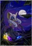 2005 anthro bat chaos_emerald female gem kaoru_(artist) mammal moon night outside rouge_the_bat solo sonic_(series)