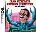 aeryn_skirrow arthropod black_hair blue_body blue_crab crab crab_nicholson crab_nicholson_extreme_sleepover crustacean eyewear glasses hair human humor hybrid jack_nicholson low_res male mammal marine nintendo nintendo_ds open_mouth short_hair solo standing sunglasses video_games what