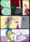 armor building castle changeling comic discord_(mlp) draconequus equine feral friendship_is_magic group hair horn horse mammal metal_(artist) my_little_pony pony queen_chrysalis_(mlp) royal_guard_(mlp) sculpture statue wings
