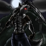 2009 anthro barrin84 canine clothing gloves glowing glowing_eyes graveyard halloween hat-kun hi_res holidays male mammal melee_weapon moon night outside polearm scythe solo undead weapon wolf zombieRating: SafeScore: 3User: HatDate: October 31, 2009