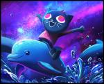 cat cetacean dolphin feline fluffyslipper mae_(nitw) mammal marine night_in_the_woods space waterRating: SafeScore: 2User: slyroonDate: March 27, 2017