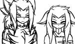 2017 animated anthro blakethehedgehog16 brother brother_and_sister clothed clothing dialogue digital_media_(artwork) duo female fur hair hiro_matsuki jewelry long_hair male mammal monochrome necklace no_sound shina_matsuki sibling simple_background sister sketch unknown_species white_backgroundRating: SafeScore: 2User: HazekerDate: March 31, 2017