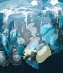 ajsource ambiguous_gender anthro black_fur blue_fur bubble fur lucario multicolored_fur nintendo open_mouth paws pokémon pokémon_(species) red_eyes sad sinking solo teeth underwater upside_down video_games water yellow_furRating: SafeScore: 10User: FifteenDate: November 02, 2017