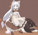 anthro axe cat child cute feline female fur hair kishibe mammal melee_weapon necktie pink_eyes ribbons solo weapon white_clothing white_fur white_hair youngRating: SafeScore: 9User: anonyDate: August 30, 2009
