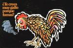 1973 absurd_res avian beak bird chicken cigarette feathered_wings feathers feral hi_res male poster propaganda smoke smoking solo spanish_text text u.s._public_health_service unknown_artist wings