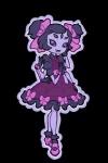 arachnid arthropod clothing dress fangs female gloves looking_at_viewer muffet multi_eye multi_limb pigtails purple_eyes solo spider undertale unknown_artist video_gamesRating: SafeScore: 5User: NujiDate: March 24, 2017