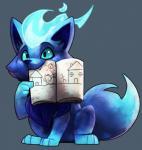 ambiguous_gender blitzdrachin blue_eyes book canine chibi cute feral fire hi_res mammal solo wolfRating: SafeScore: 32User: blitzdrachinDate: October 21, 2017