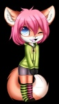 2017 ambiguous_gender anthro canine clothed clothing fox girly hair hoodie legwear mammal overknees socks solo stockingsRating: SafeScore: 2User: JaxFenrirDate: May 27, 2017