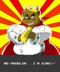 2015 brown_fur canine clothed clothing crown english_text eyewear fur glasses king kounosuke_(morenatsu) male mammal morenatsu overweight overweight_male royalty shirt solo tanuki text zeny zenywolfRating: SafeScore: 2User: mapachitoDate: April 08, 2018