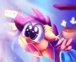 2017 bag equine feathered_wings feathers female feral friendship_is_magic hair hi_res inside mammal my_little_pony orange_feathers pegasus purple_hair reaction_image scootaloo_(mlp) solo thediscorded wingsRating: SafeScore: 4User: ConsciousDonkeyDate: May 22, 2017