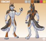 2017 abs anthro canine digital_media_(artwork) fur male mammal muscular pecs simple_background vallhund wolfRating: SafeScore: 4User: Rysaerio-MisoeryDate: March 25, 2017