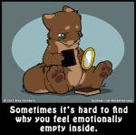 2017 ambiguous_gender anthro blue_eyes brown_fur chibi crying depression english_text fur hand_mirror hole_(feature) mirror nude o-kemono pawpads solo story story_in_description tears text unknown_speciesRating: SafeScore: 17User: ClawstripeDate: June 08, 2018
