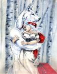 anthro blue_eyes breasts canine clothed clothing duo female fur hair heather_bruton hug human little_red_riding_hood little_red_riding_hood_(copyright) male male/female mammal nude outside tree white_fur white_hair winter wolfRating: SafeScore: 4User: ClawstripeDate: June 18, 2018