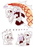 alternate_universe animated_skeleton asgore_dreemurr blush bone boss_monster cape caprine clothing cub cute english_text fangs fish fish_humanoid goat group hi_res horn humanoid littletale long_ears mammal marine mudkipful nervous papyrus_(undertale) robe sans_(undertale) skeleton sweat text toriel undead undertale undyne video_games young