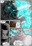 bear canine clothing comic male mammal mind_control muscular polar_bear rubber rubberbuns wolf