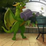 2018 detailed_background digital_media_(artwork) dragon green_hair hair horn kodardragon membranous_wings open_mouth purple_eyes scalie teeth tongue western_dragon wingsRating: SafeScore: 13User: MillcoreDate: June 19, 2018