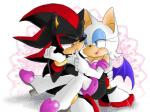 anthro bat clothing duo female fur hedgehog male male/female mammal pokewanko rouge_the_bat shadow_the_hedgehog sonic_(series) video_games white_fur wings
